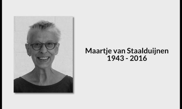 Maartje van Staalduijnen 1943 – 2016