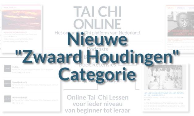 """Nieuwe """"Zwaard Houdingen"""" Categorie"""